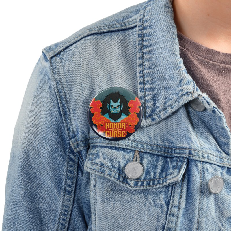 Honor and Curse: Tengu Accessories Button by Mad Cave Studios's Artist Shop