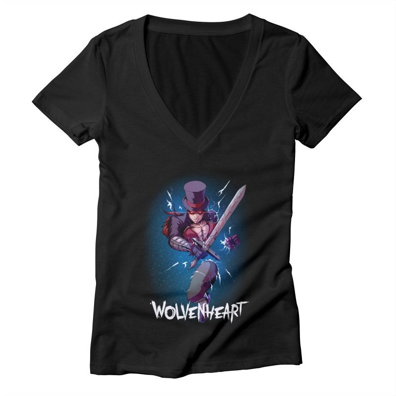 Wolvenheart - Sterling Women's V-Neck by Mad Cave Studios's Artist Shop