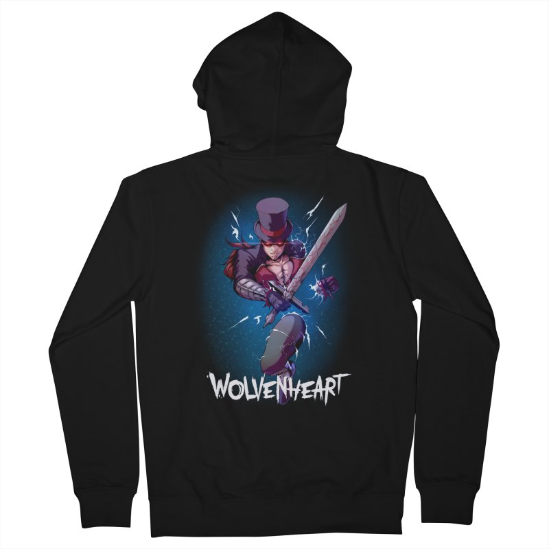 Wolvenheart - Sterling Men's Zip-Up Hoody by Mad Cave Studios's Artist Shop