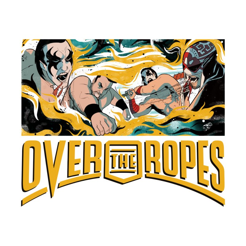 Over The Ropes - 1990s Wrestling Men's T-Shirt by Mad Cave Studios's Artist Shop