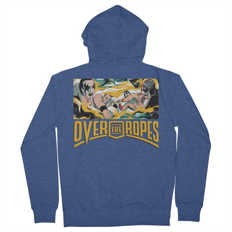 Over The Ropes - 1990s Wrestling Men's Zip-Up Hoody by Mad Cave Studios's Artist Shop