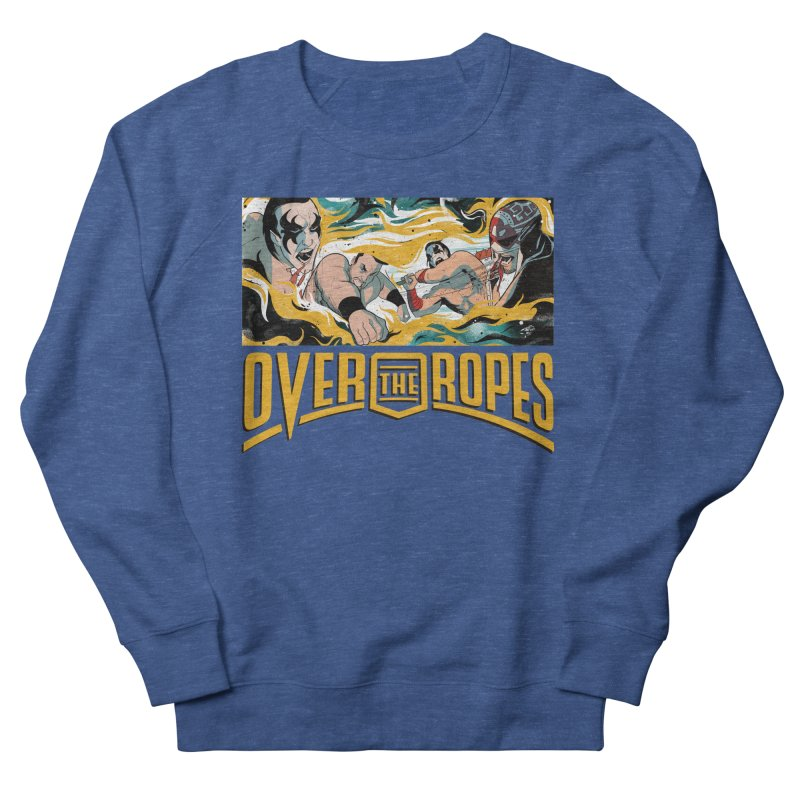Over The Ropes - 1990s Wrestling Men's Sweatshirt by Mad Cave Studios's Artist Shop