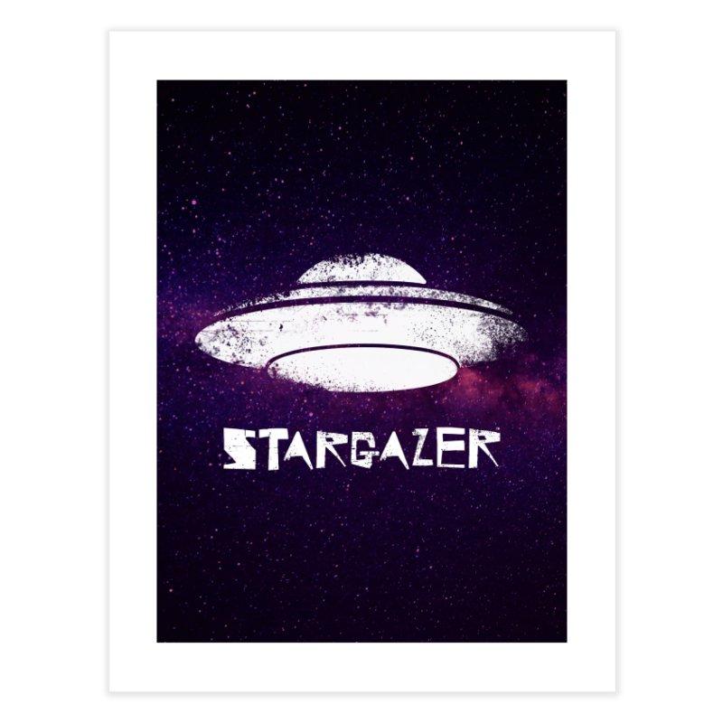 Stargazer - Disco Volante Home Fine Art Print by Mad Cave Studios's Artist Shop