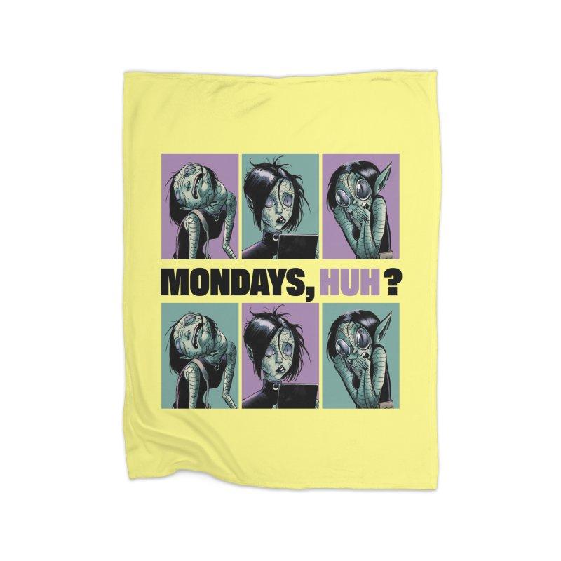 Villainous - Tilly on Mondays Home Blanket by Mad Cave Studios's Artist Shop