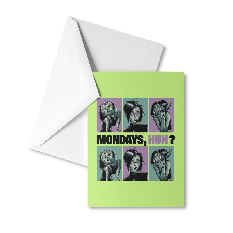 Villainous - Tilly on Mondays Accessories Greeting Card by Mad Cave Studios's Artist Shop