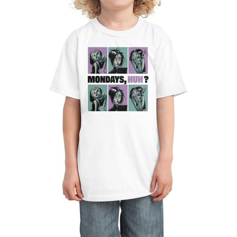 Villainous - Tilly on Mondays Kids T-Shirt by Mad Cave Studios's Artist Shop