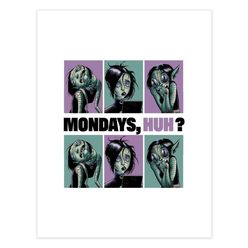 Villainous - Tilly on Mondays Home Fine Art Print by Mad Cave Studios's Artist Shop