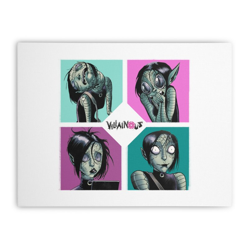 Rep-Tilly Home Stretched Canvas by Mad Cave Studios's Artist Shop