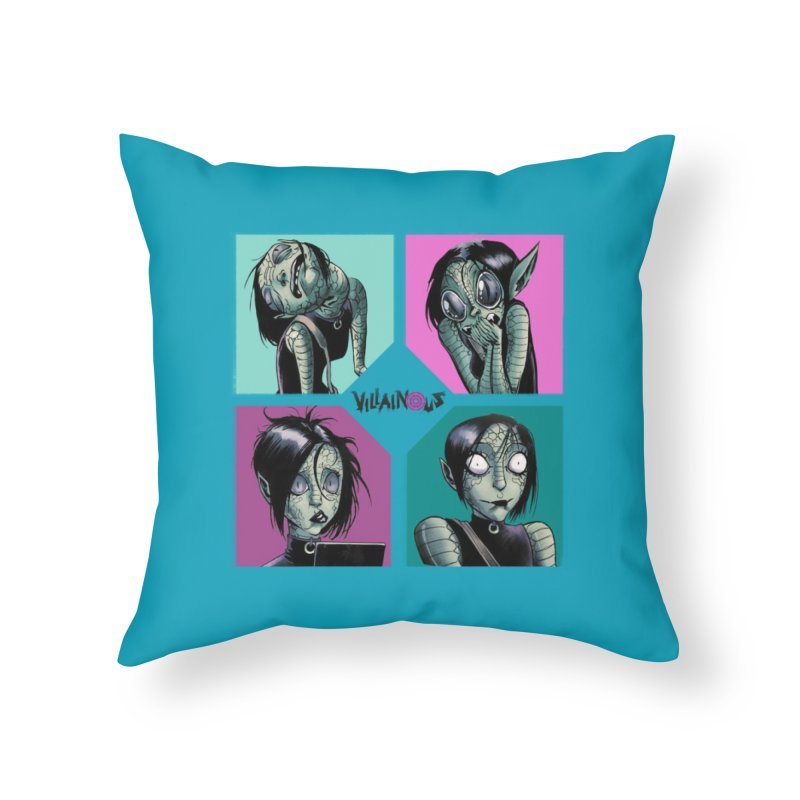 Rep-Tilly Home Throw Pillow by Mad Cave Studios's Artist Shop