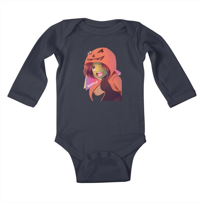 Villainous Rep-Tilly Halloween Kids Baby Longsleeve Bodysuit by Mad Cave Studios's Artist Shop