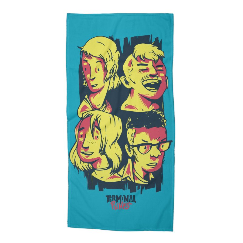 Terminal Punks - The Band Accessories Beach Towel by Mad Cave Studios's Artist Shop