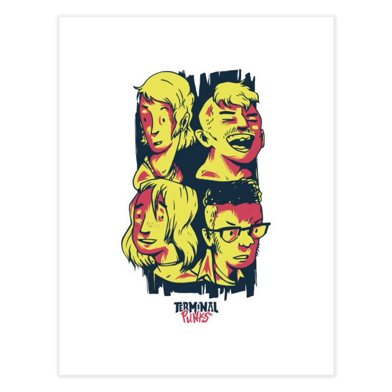 Terminal Punks - The Band Home Fine Art Print by Mad Cave Studios's Artist Shop