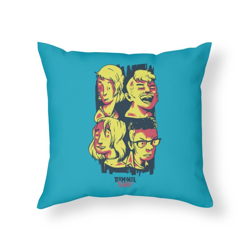 Terminal Punks - The Band Home Throw Pillow by Mad Cave Studios's Artist Shop