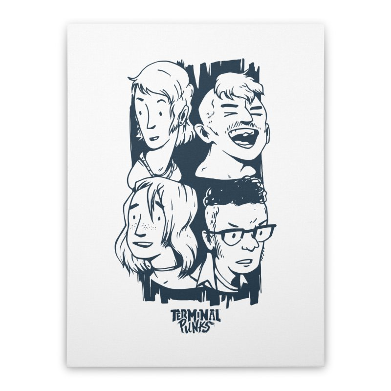 Terminal Punks - The Band - 2 Home Stretched Canvas by Mad Cave Studios's Artist Shop