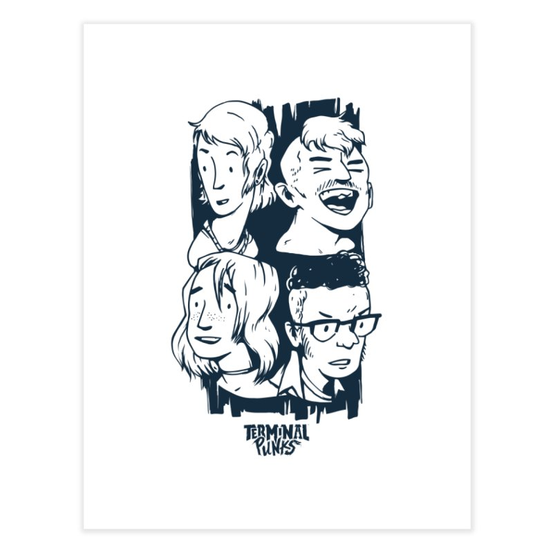 Terminal Punks - The Band - 2 Home Fine Art Print by Mad Cave Studios's Artist Shop