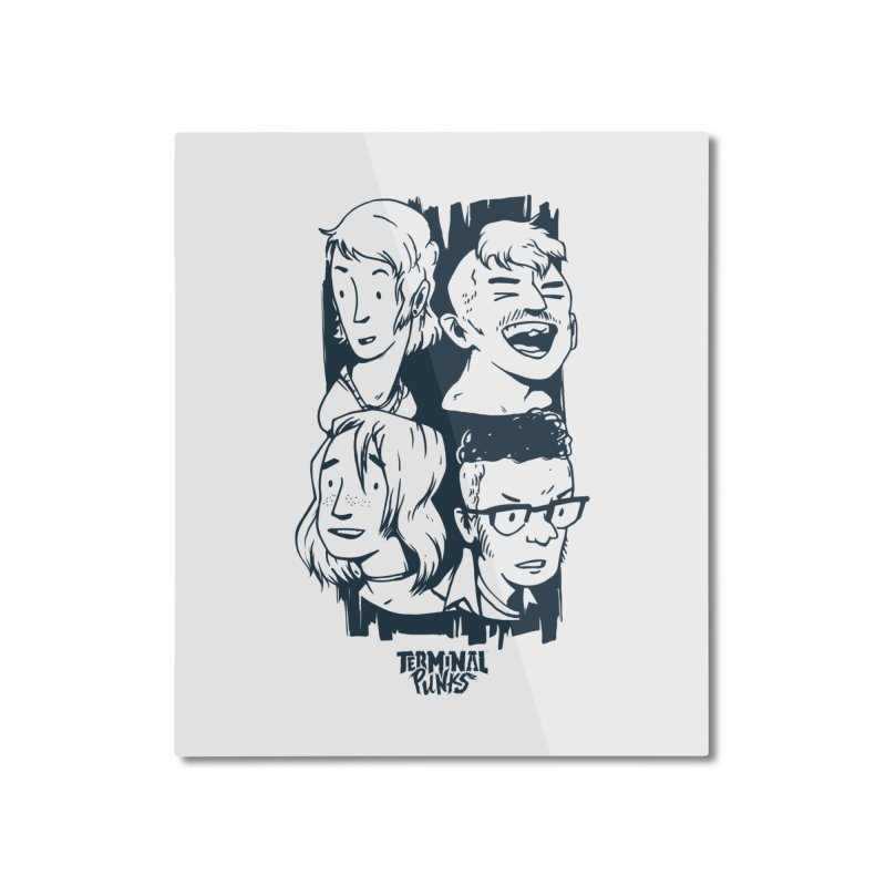 Terminal Punks - The Band - 2 Home Mounted Aluminum Print by Mad Cave Studios's Artist Shop
