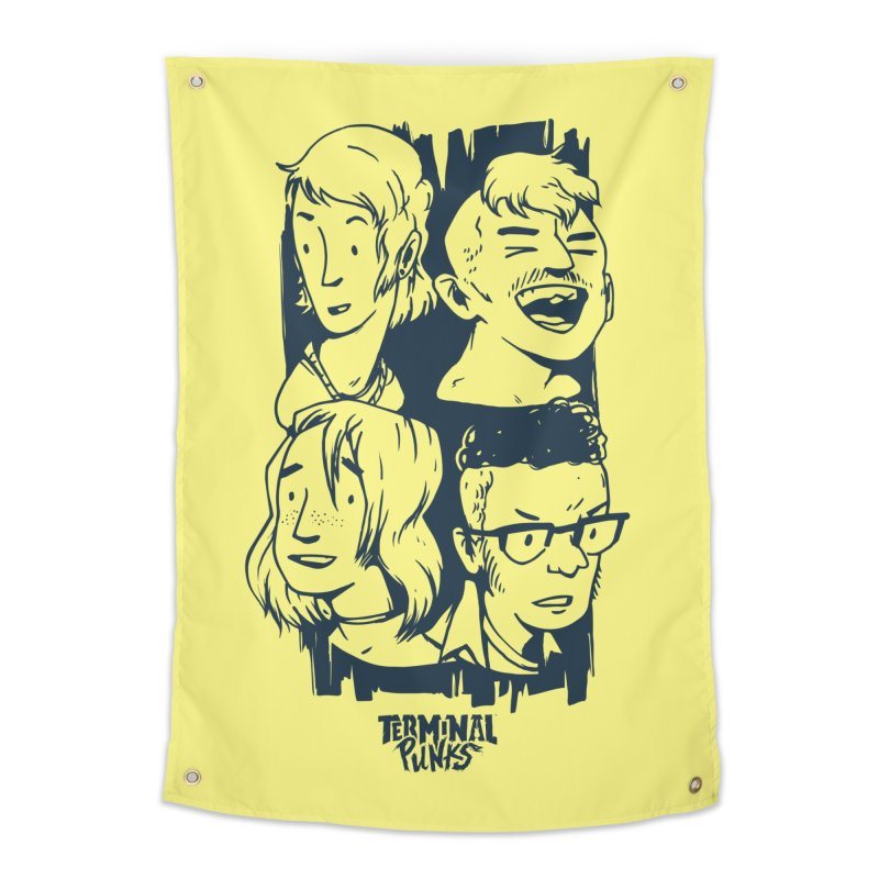 Terminal Punks - The Band - 2 Home Tapestry by Mad Cave Studios's Artist Shop