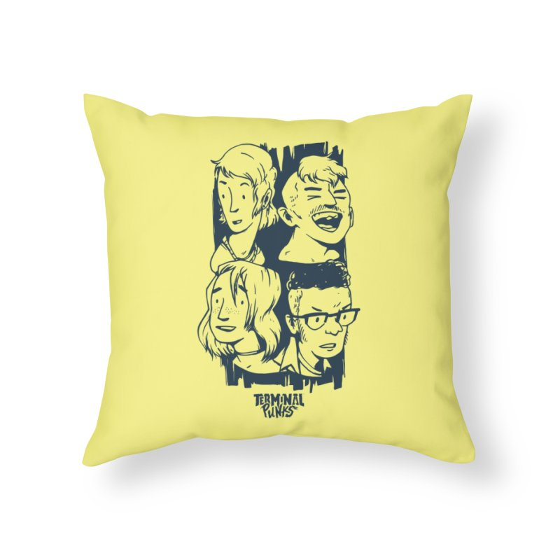 Terminal Punks - The Band - 2 Home Throw Pillow by Mad Cave Studios's Artist Shop
