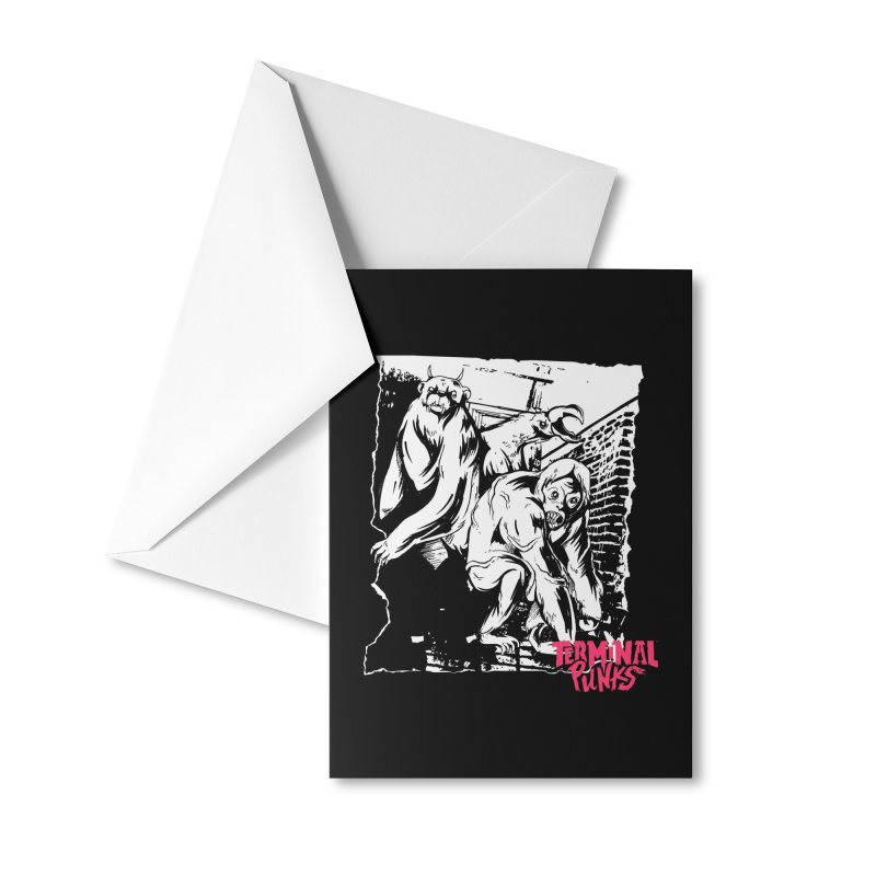 Terminal Punks - Lady Marmalade & Co. Accessories Greeting Card by Mad Cave Studios's Artist Shop