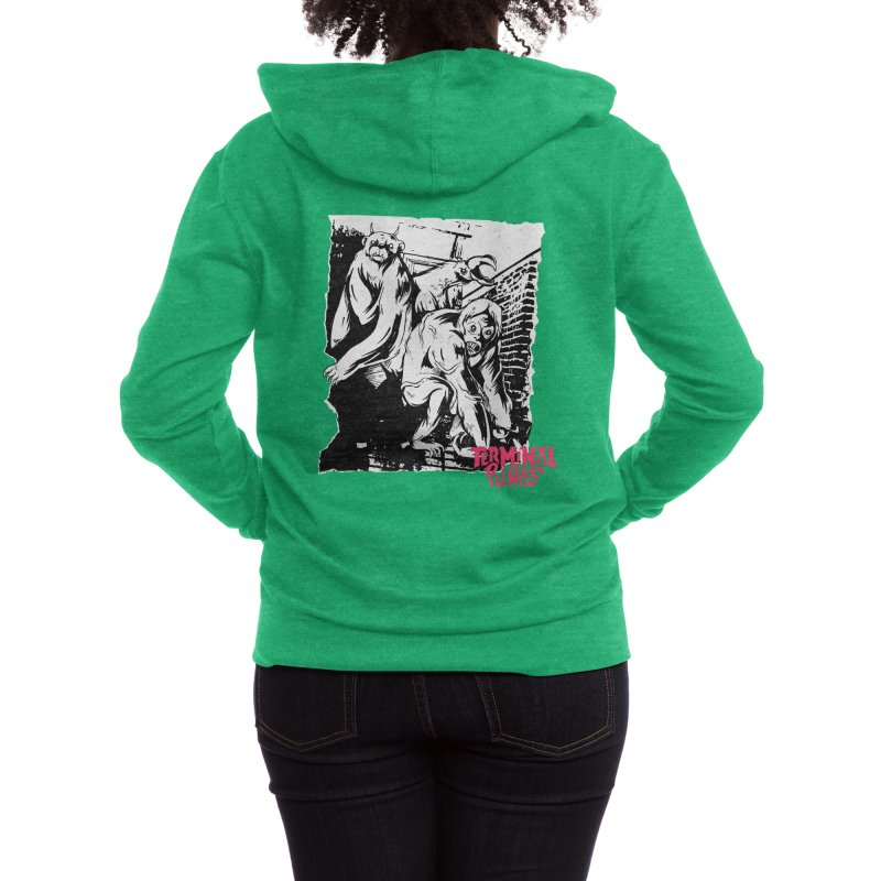 Terminal Punks - Lady Marmalade & Co. Women's Zip-Up Hoody by Mad Cave Studios's Artist Shop