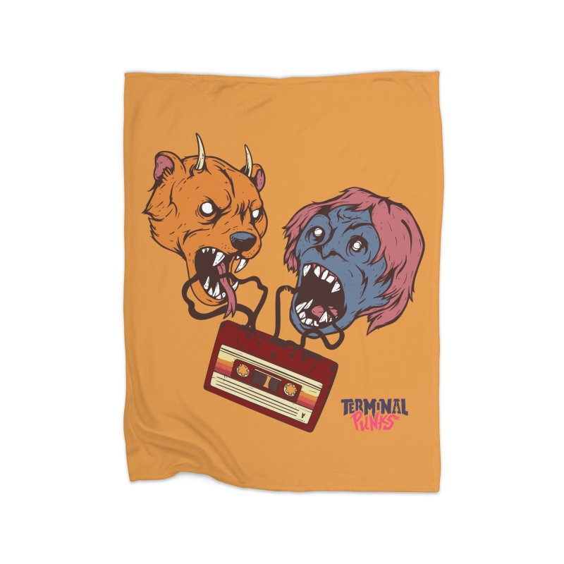 Terminal Punks - Retro Cassette Home Blanket by Mad Cave Studios's Artist Shop