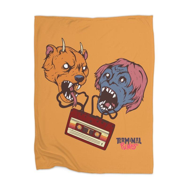 Terminal Punks - Retro Cassette Home Blanket by Mad Cave Studios's Artist Shop