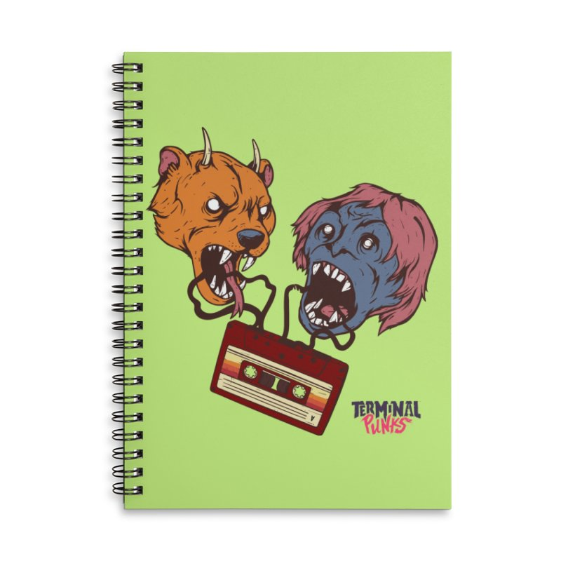 Terminal Punks - Retro Cassette Accessories Notebook by Mad Cave Studios's Artist Shop