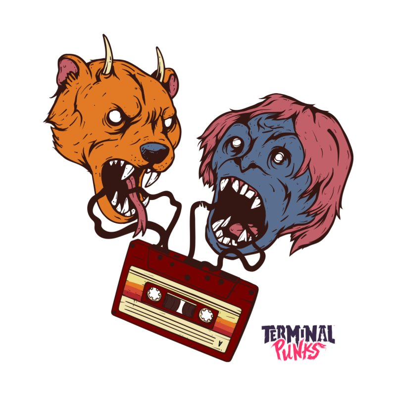 Terminal Punks - Retro Cassette Accessories Magnet by Mad Cave Studios's Artist Shop