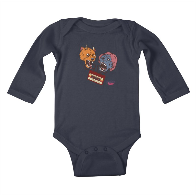 Terminal Punks - Retro Cassette Kids Baby Longsleeve Bodysuit by Mad Cave Studios's Artist Shop