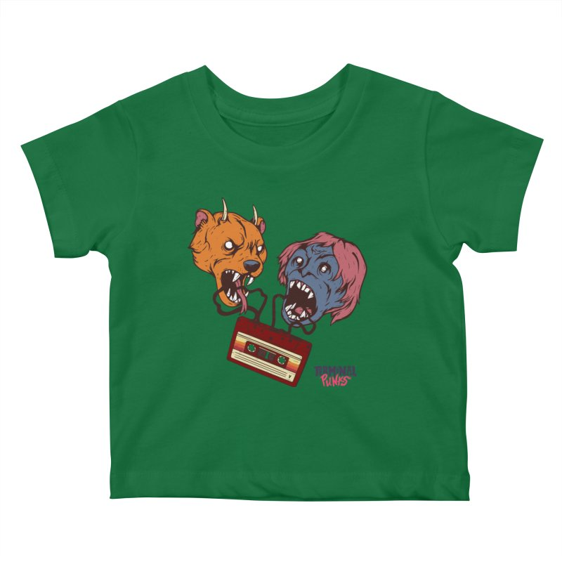 Terminal Punks - Retro Cassette Kids Baby T-Shirt by Mad Cave Studios's Artist Shop