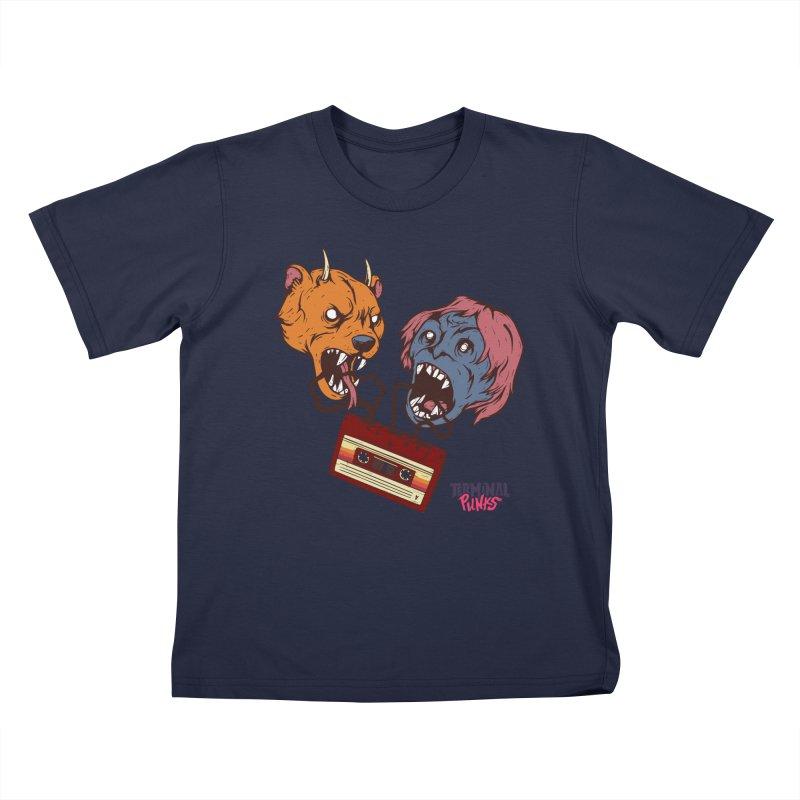 Terminal Punks - Retro Cassette Kids T-Shirt by Mad Cave Studios's Artist Shop