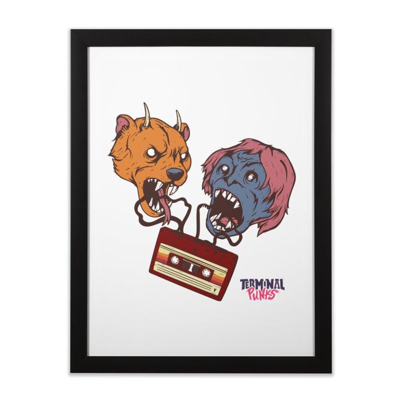 Terminal Punks - Retro Cassette Home Framed Fine Art Print by Mad Cave Studios's Artist Shop