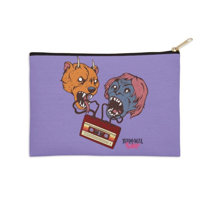 Terminal Punks - Retro Cassette Accessories Zip Pouch by Mad Cave Studios's Artist Shop