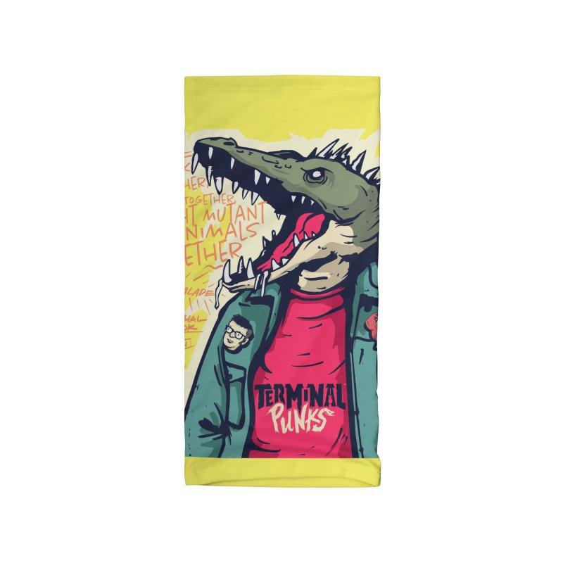 Terminal Punks - Punk-Croc Accessories Neck Gaiter by Mad Cave Studios's Artist Shop