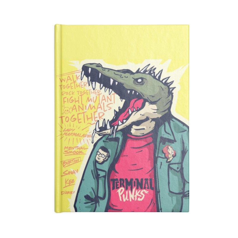 Terminal Punks - Punk-Croc Accessories Notebook by Mad Cave Studios's Artist Shop