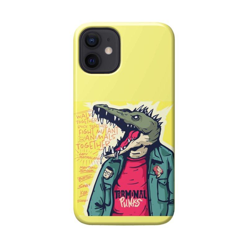 Terminal Punks - Punk-Croc Accessories Phone Case by Mad Cave Studios's Artist Shop