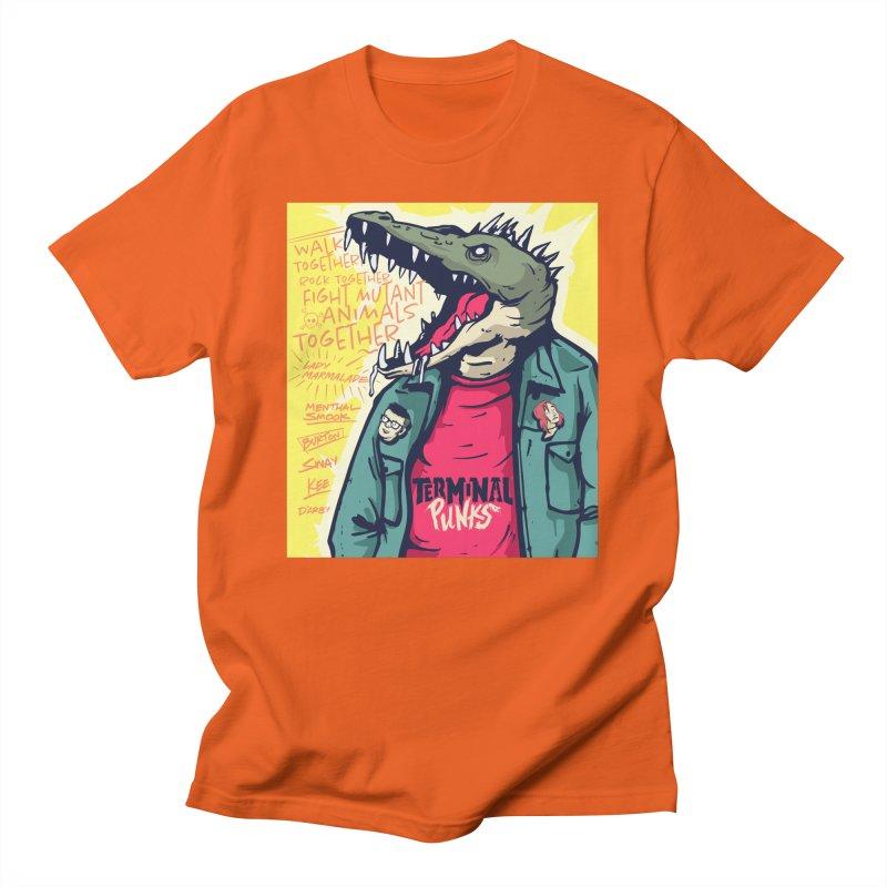 Terminal Punks - Punk-Croc Men's T-Shirt by Mad Cave Studios's Artist Shop