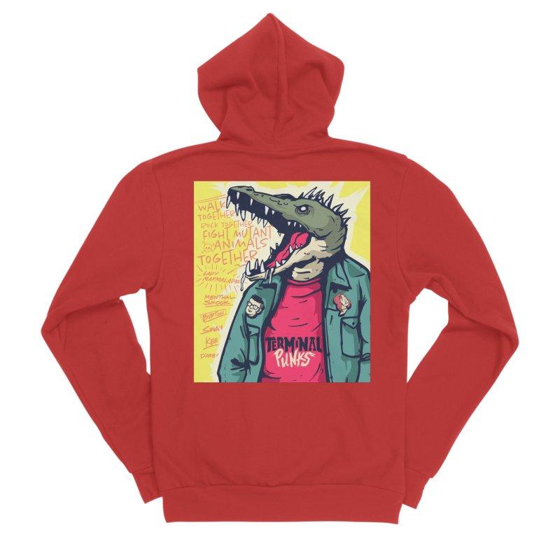 Terminal Punks - Punk-Croc Men's Zip-Up Hoody by Mad Cave Studios's Artist Shop