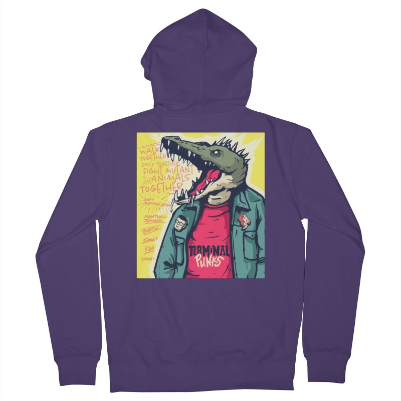 Terminal Punks - Punk-Croc Women's Zip-Up Hoody by Mad Cave Studios's Artist Shop