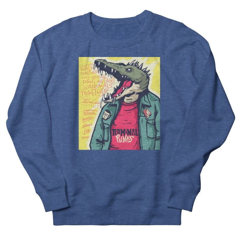 Terminal Punks - Punk-Croc Men's Sweatshirt by Mad Cave Studios's Artist Shop
