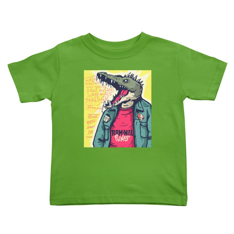 Terminal Punks - Punk-Croc Kids Toddler T-Shirt by Mad Cave Studios's Artist Shop