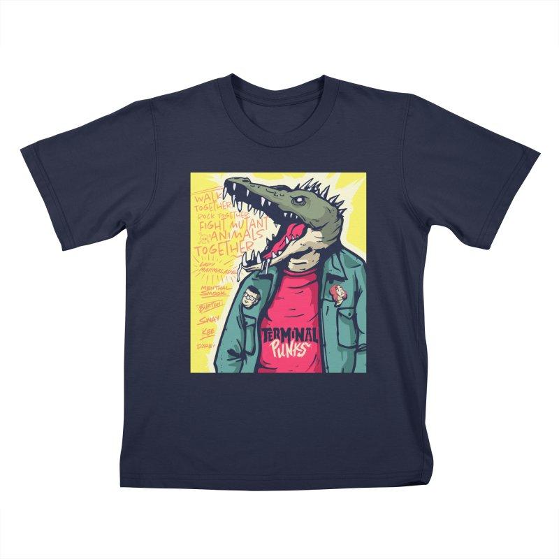 Terminal Punks - Punk-Croc Kids T-Shirt by Mad Cave Studios's Artist Shop