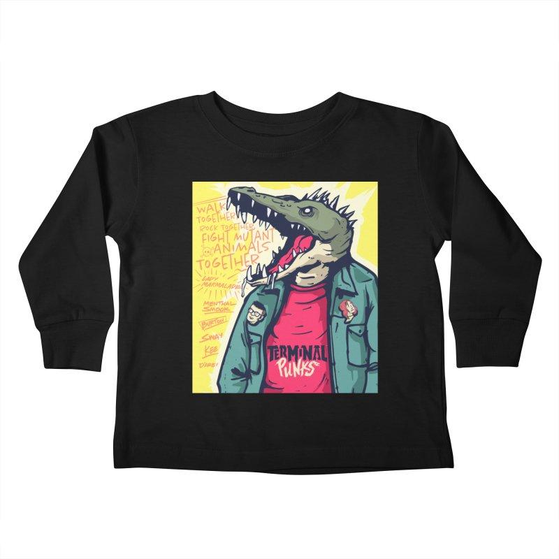 Terminal Punks - Punk-Croc Kids Toddler Longsleeve T-Shirt by Mad Cave Studios's Artist Shop
