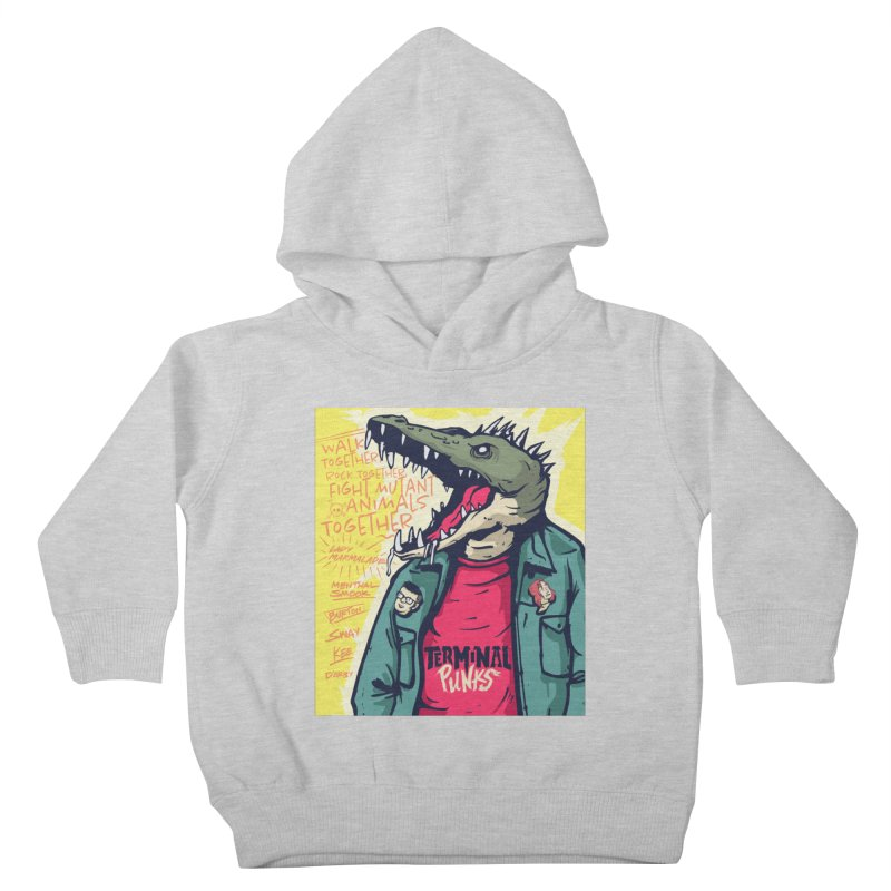 Terminal Punks - Punk-Croc Kids Toddler Pullover Hoody by Mad Cave Studios's Artist Shop