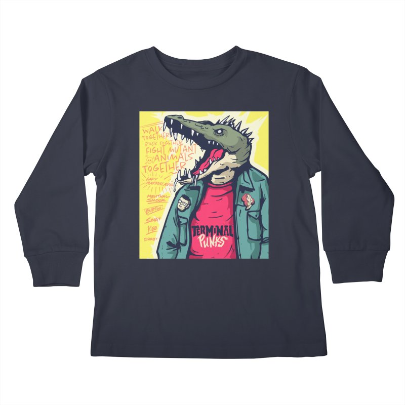 Terminal Punks - Punk-Croc Kids Longsleeve T-Shirt by Mad Cave Studios's Artist Shop