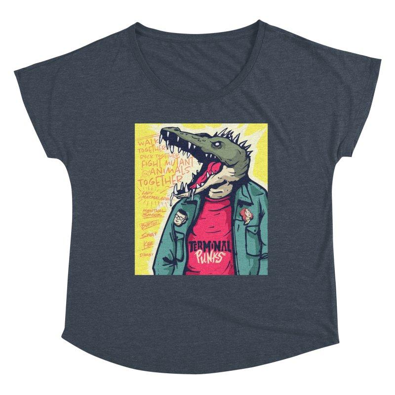 Terminal Punks - Punk-Croc Women's Scoop Neck by Mad Cave Studios's Artist Shop