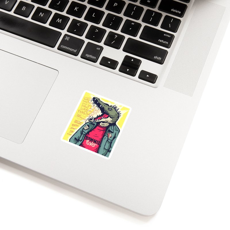 Terminal Punks - Punk-Croc Accessories Sticker by Mad Cave Studios's Artist Shop