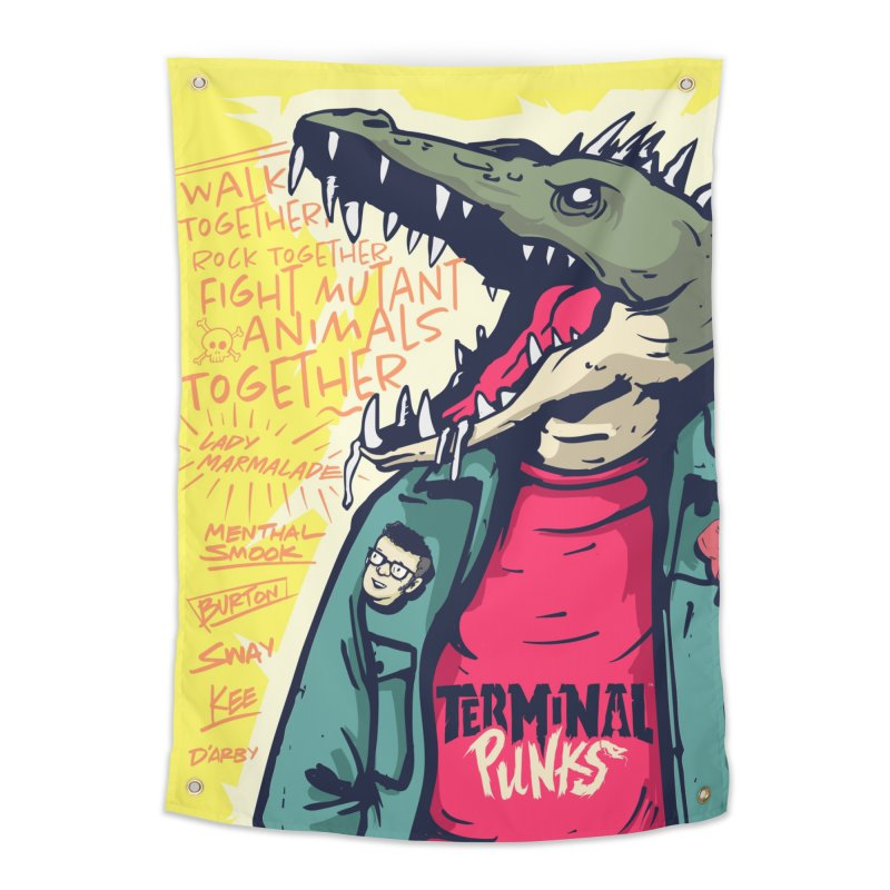 Terminal Punks - Punk-Croc Home Tapestry by Mad Cave Studios's Artist Shop