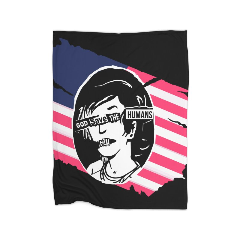 Terminal Punks - God Save the Humans Home Blanket by Mad Cave Studios's Artist Shop