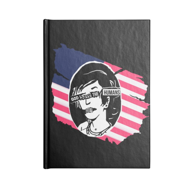 Terminal Punks - God Save the Humans Accessories Notebook by Mad Cave Studios's Artist Shop